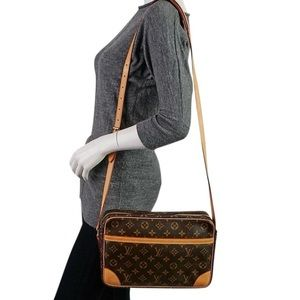 Auth Louis Vuitton Trocadero 30 Crossbody Bag Vtg